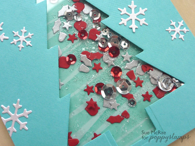 Sue McRae Shaker Card Closeup