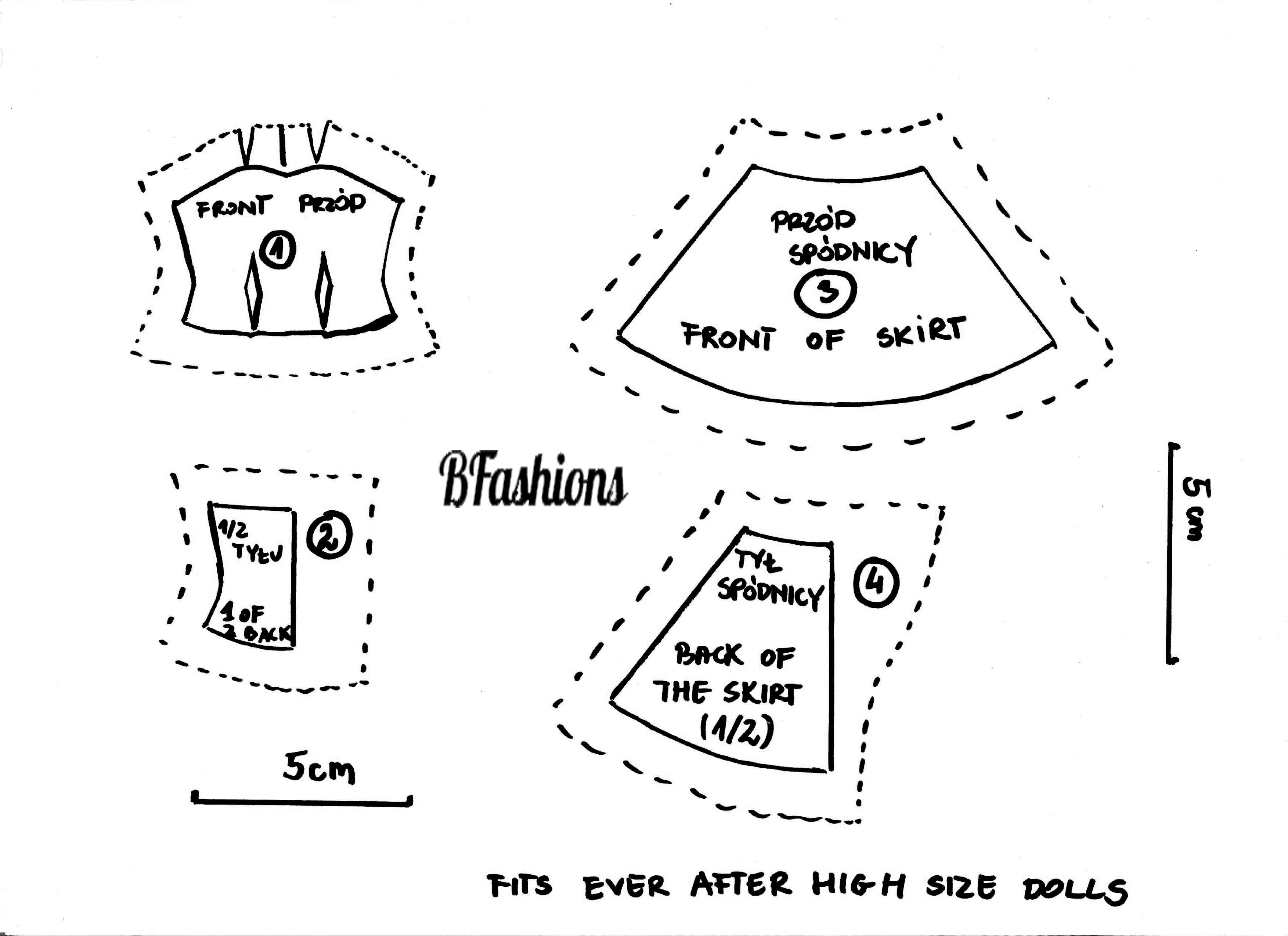 Как сшить юбку для кукол эвер афтер хай 80