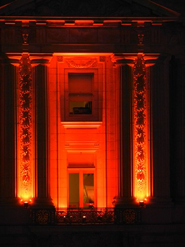 DSCN7877 - San Francisco City Hall in SF Giants' Orange Glow