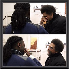 A special thank you for Mark Jones for capturing these two photos. I had no idea that #drcornelwest was tearing up as well. You can read about this moment by going to www.princesdailyjournal.com Thank you again Mark, #princesdailyjournal #princeinthecity