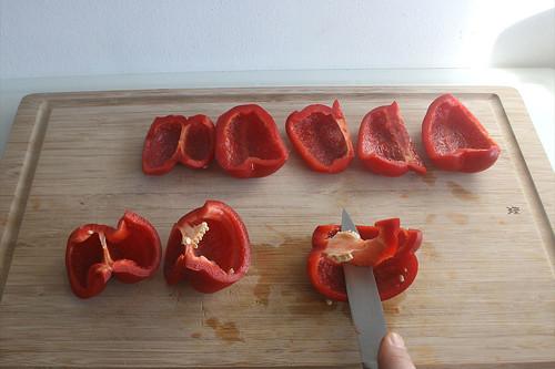 23 - Paprika entkernen / Decore bell pepper