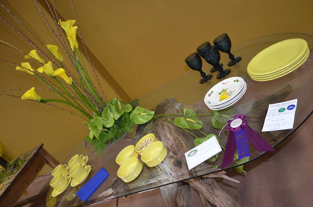 Flower Show, Jaguarão GC, zil | Table Design at the Socce ... on standard flower show table designs, garden club underwater designs, winning garden club flower designs,