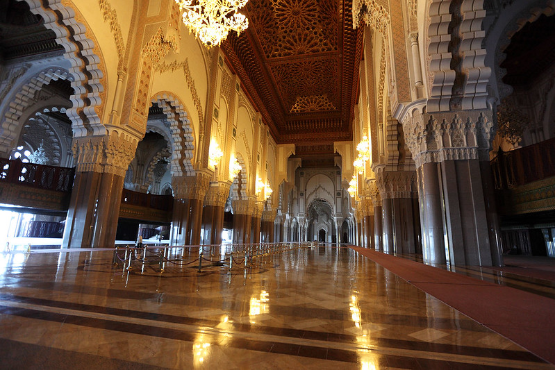 Hassan II Mosque interior