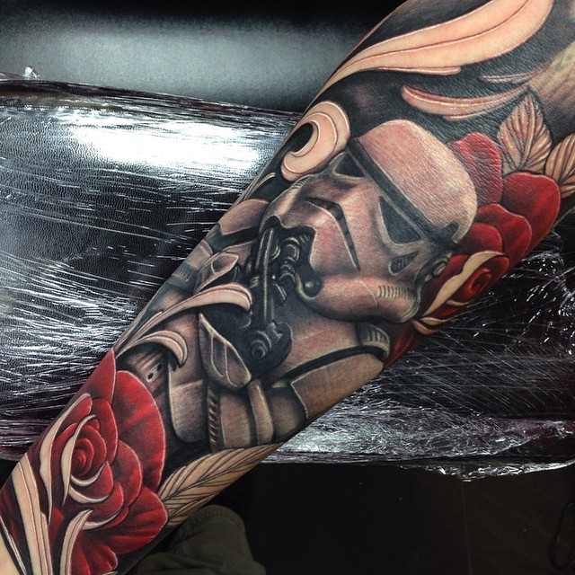 Star Wars Stormtrooper Half Sleeve Tattoo By Craig Holmes At Iron
