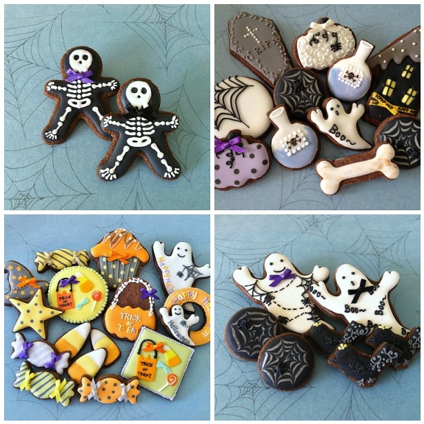 c bonbon Halloween cookie's