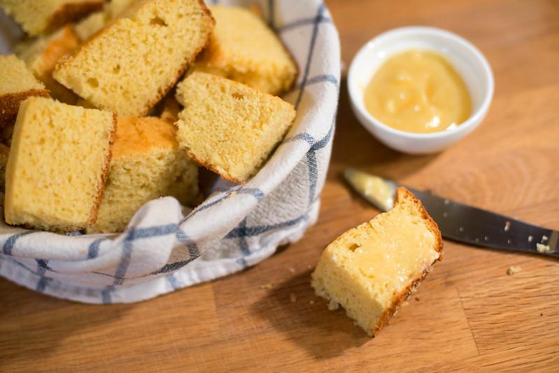 Sweet and Moist Northern-Style Cornbread