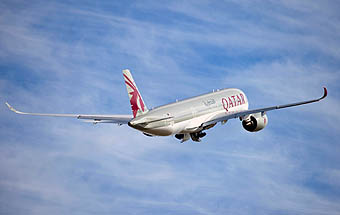 Qatar Airways A350-900 first flight (Airbus)