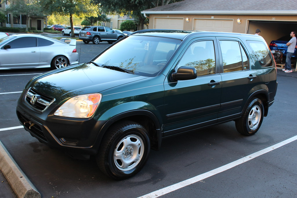 2004 honda crv lx 2wd clover green pearl tan all documents original owner tampa racing. Black Bedroom Furniture Sets. Home Design Ideas