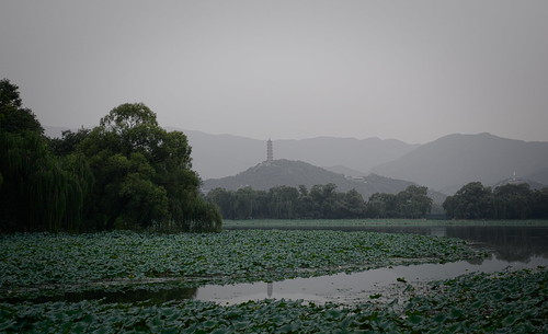 china travel trees lake mountains reflection green evening pagoda lotus beijing hills layers summerpalace yufengpagoda nikond7100