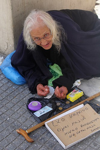 """I have cancer, I'm in terrible shape, please help"" - Thessaloniki, Greece"
