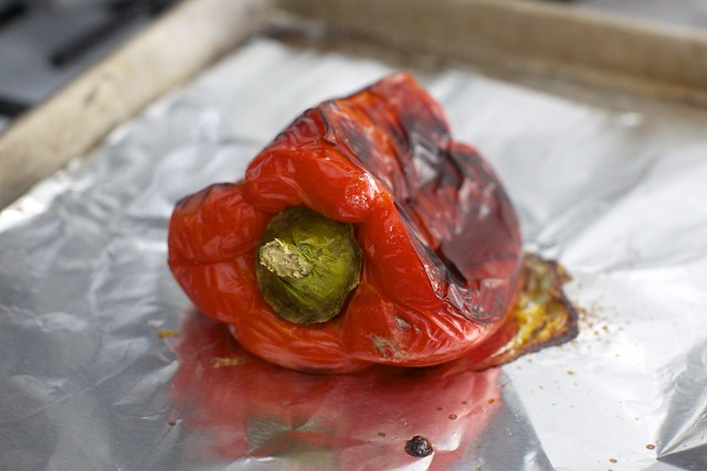 a very roasted red pepper