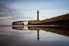 Whitby, in the evening.