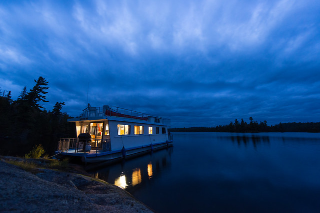 Blue Light Special on Lake Temagami