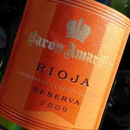 Baron Amarillo Rioja Reserva 2009. Aldi. Red wine. Wine. Spanish wine.