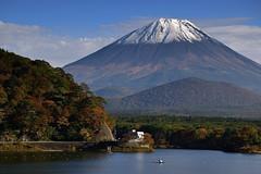 精進湖からの富士山  Mt.Fuji and Lake Shojiko