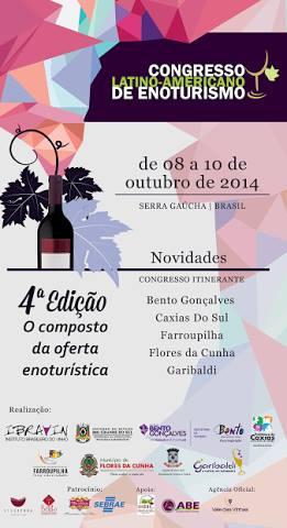 4ª Congreso Latinoamericano de Enoturismo en la Sierra Gaucha, Brasil