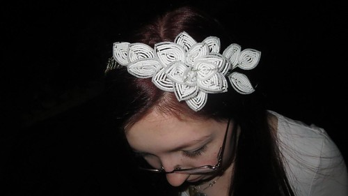 french beaded head piece