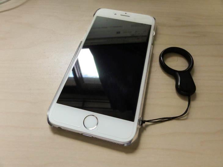 iPhone6にガラスフィルムを貼った class=