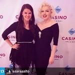 Toiseksi viimeinen Tribute to Marilyn Monroe -show tänään! Kuvauta itsesi shown jälkeen @suziekennedy'n kanssa ja voit voittaa Show & Dinner -liput. Niin teki myös @saaraaalto ,jonka A Night in Hollywood -show alkaa 22.10.!  #casinohelsinki #casinoshowdin