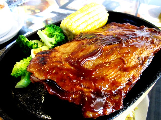 Noodle House sizzling pork ribs 2
