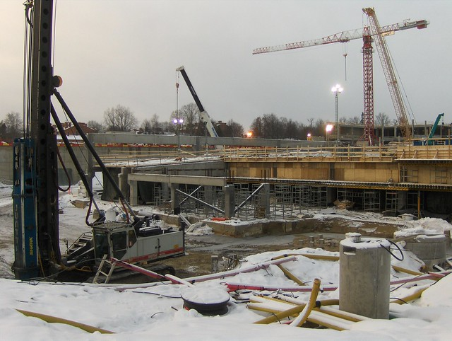 Hämeenlinnan moottoritiekate ja Goodman-kauppakeskus: Työmaatilanne 13.1.2013 - kuva 12