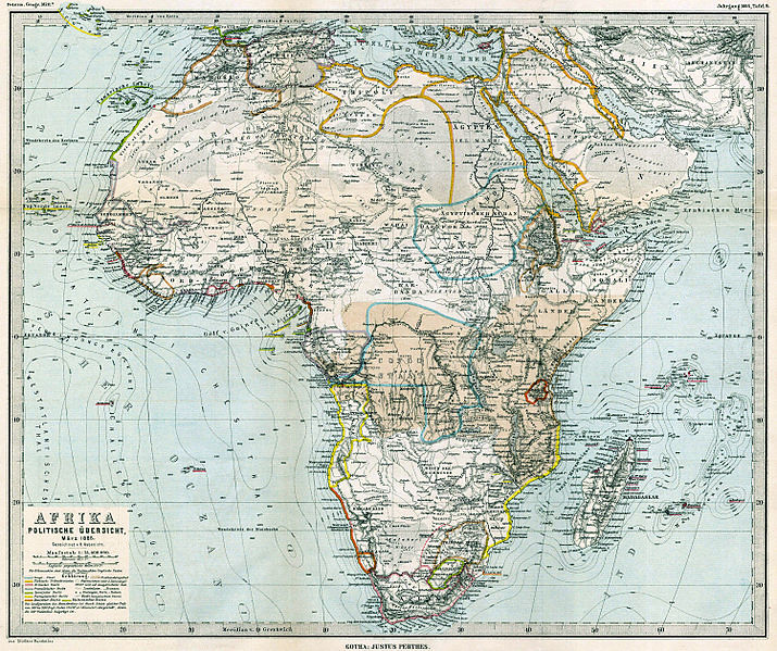 German Map of Africa, 1885