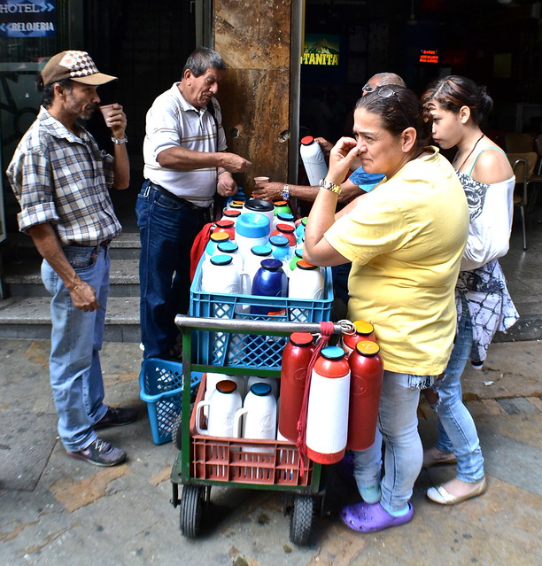 coffee vendors of medellin, colombia