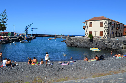 Harbour beach, Puerto de la Cruz, Tenerife