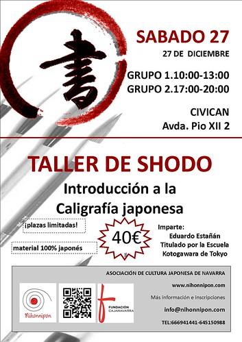 Taller de caligrafia japonesa, shodo en Pamplona