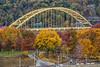 Ft. Pitt Bridge and fall colors in Pittsburgh