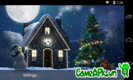Hình nền động Christmas Moon v1.4.0 cho Android