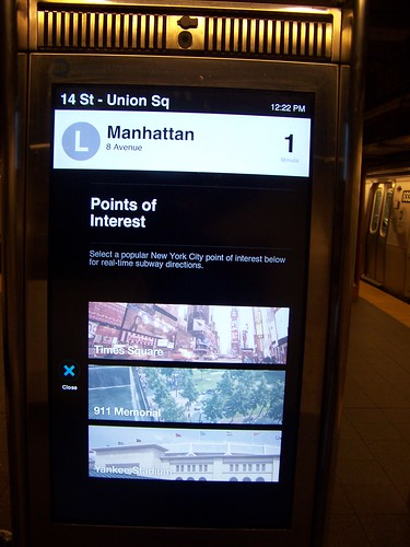 MTA New York City digital map kiosk