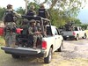 Marinos realizan operativo por tierra y aire en Morelos.
