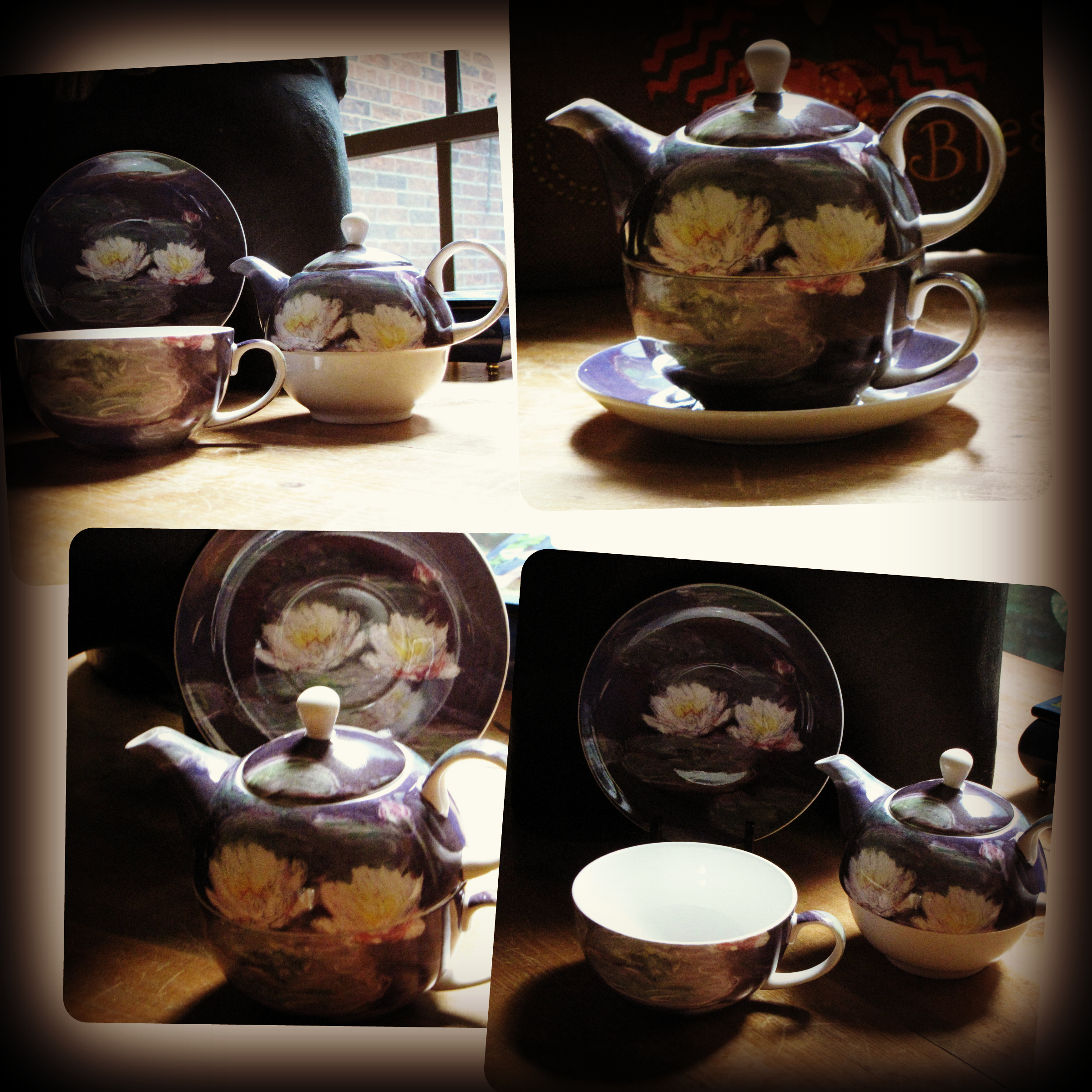 Monet Waterlily Tea For One