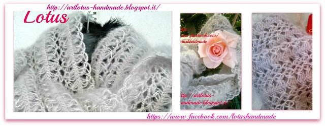 pearl scarf hairpin lace