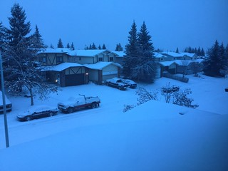 Calgary first snow 2014