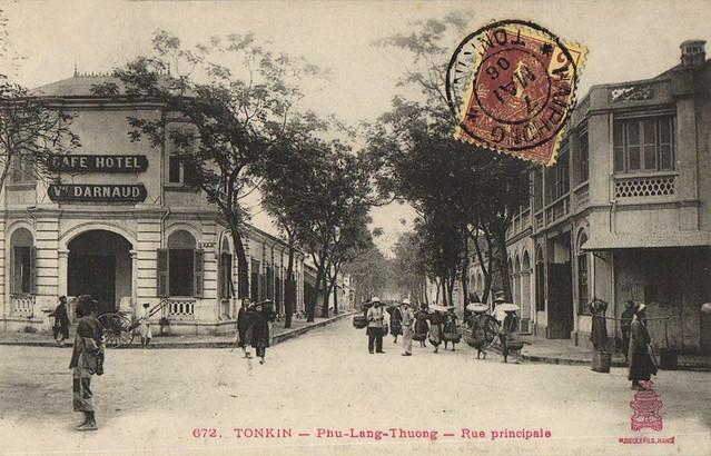 TONKIN - Phu-Lang-Thuong - Rue principale