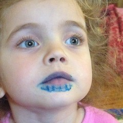 Just because the marker is blue doesn't mean it tastes like #blueberries. #goof