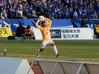 高橋選手に代わって出場したのは森勇介選手。
