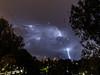 toch nog een bliksempje kunnen vangen vanavond - helaas wel een beetje veel druppels op de ramen ...