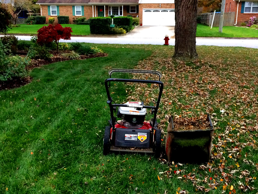 Mowing lawns, First Leaf Mowing of the Season