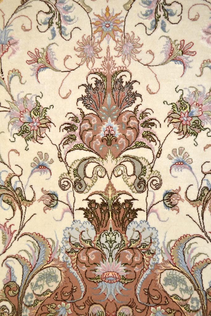Oval Shape Persian Tabriz Novinfar 7x10 Area Rug Wool