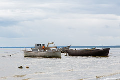 Lapmežciema (Jurmala), Latvia - Fishing Boats on Baltic Sea shore