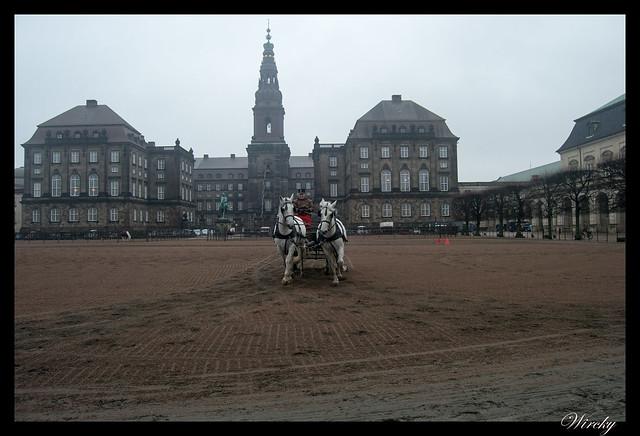 Entrenamiento de caballos reales en Palacio Christiansborg