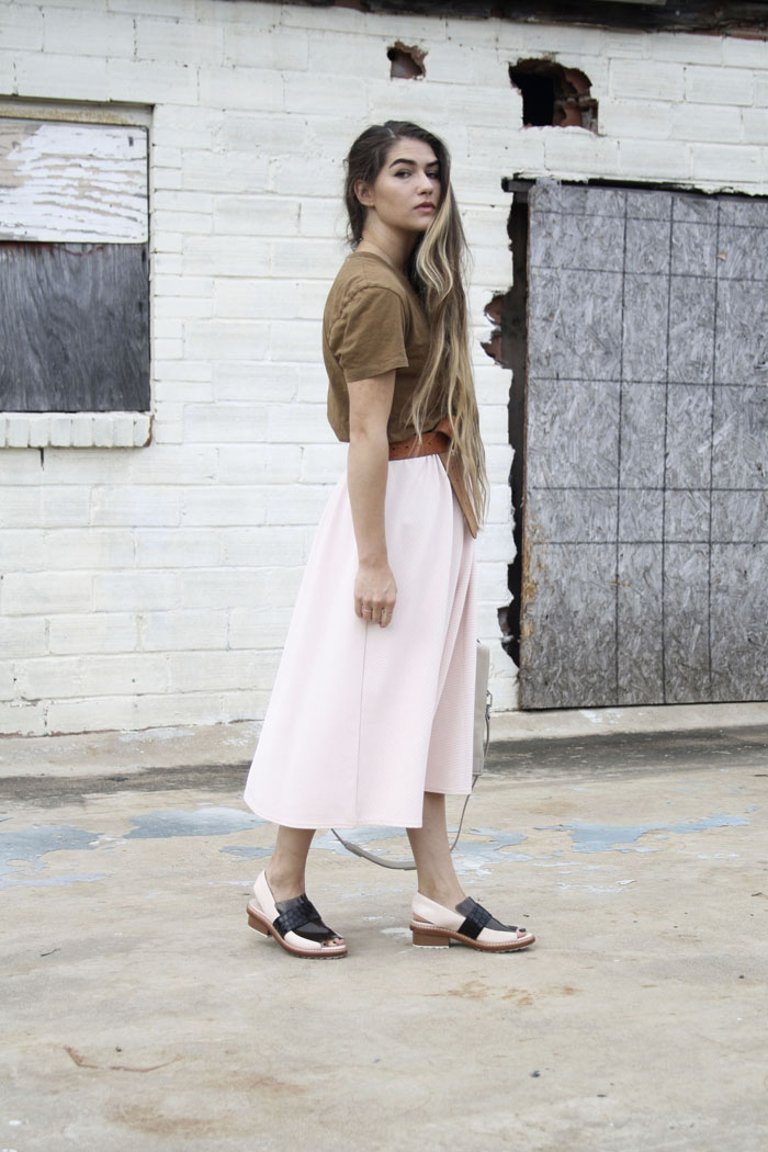 Fringe of the Cro | Pink outfit paired with brown accents