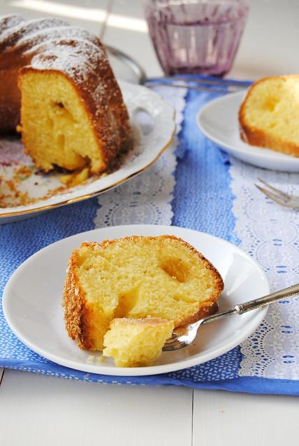 Kefir, Coconut and Lemon Curd Bundt Cake