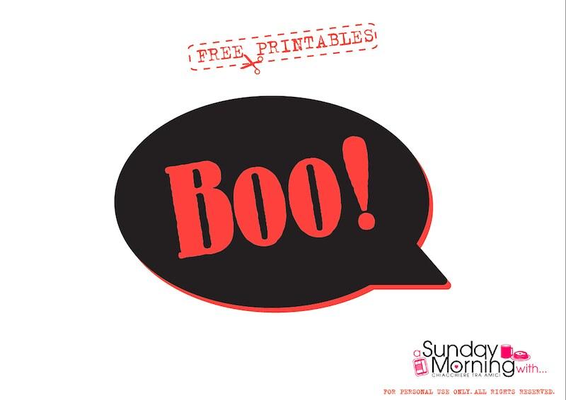 halloween free printables  boo