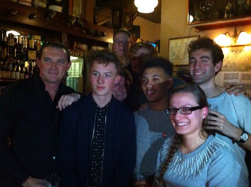 Digbeth's Pamela Pinski with all six Peaky Blinders actors!