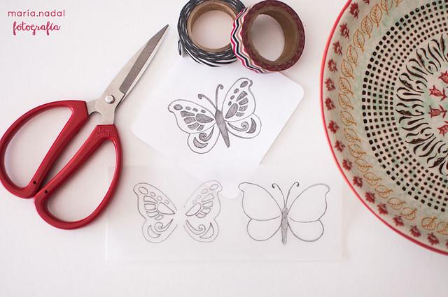1estampado en capas - mariposa