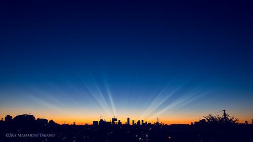 morning blue sky japan sunrise tokyo asahi ikebukuro 空 池袋 fineday 朝日